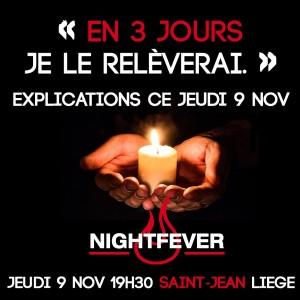 Jeu 9 nov - « En trois jours, je le relèverai », à Saint-Jean @ Collégiale saint-Jean | Liège | Wallonie | Belgique